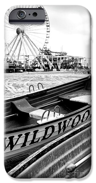 Amusements iPhone Cases - Wildwood Black iPhone Case by John Rizzuto
