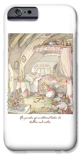 Tea Party iPhone Cases - Wilfreds birthday morning iPhone Case by Brambly Hedge