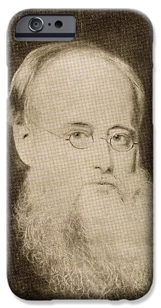 Collins iPhone Cases - Wilkie Collins, 1824-1889 English iPhone Case by Ken Welsh
