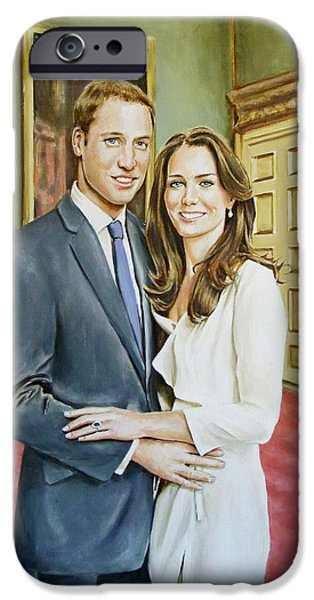 Duchess iPhone Cases - William and Kate iPhone Case by Andy Lloyd