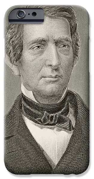 American Politician iPhone Cases - William Henry Seward 1801-1872 iPhone Case by Ken Welsh