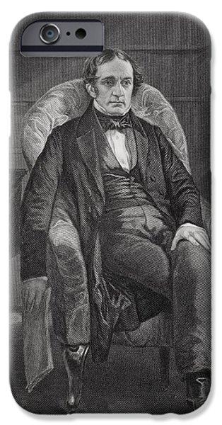 Prescott Drawings iPhone Cases - William Hickling Prescott 1796 To 1859 iPhone Case by Ken Welsh