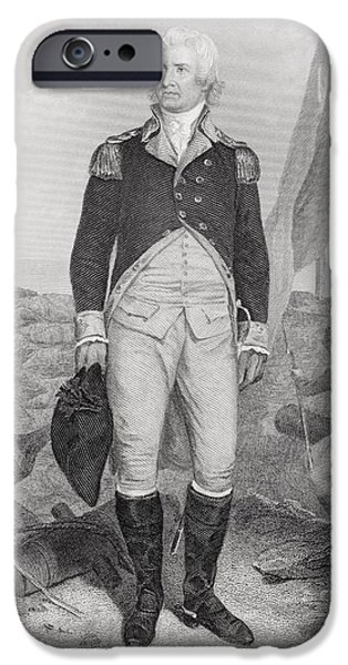 American Revolution iPhone Cases - William Moultrie 1730 - 1805. American iPhone Case by Ken Welsh