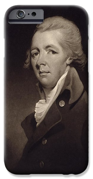 Politician iPhone Cases - William Pitt The Younger, 1759 iPhone Case by Ken Welsh