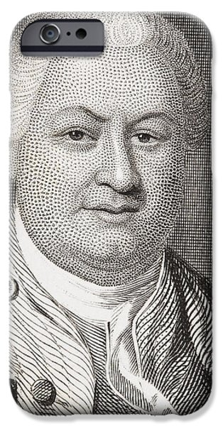 Politician iPhone Cases - William Smallwood 1732  1792. American iPhone Case by Ken Welsh