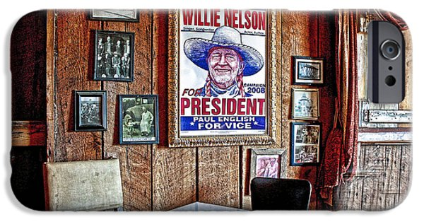 President iPhone Cases - Willie Nelson For President iPhone Case by Jake Steele