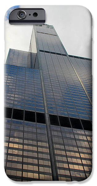 Willis Tower iPhone Cases - Willis Tower iPhone Case by Cheryl Del Toro