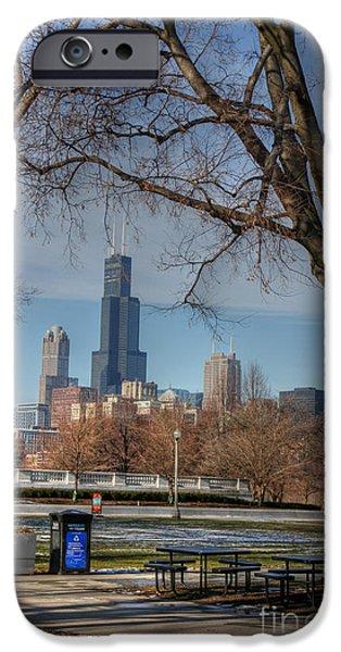 Willis Tower iPhone Cases - Willis Tower iPhone Case by David Bearden