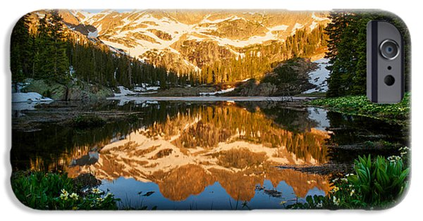 Willow Lake iPhone Cases - Willow Lake Sunrise iPhone Case by Aaron Spong