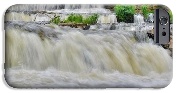 Willow Lake iPhone Cases - Willow River Falls 6 iPhone Case by Todd and candice Dailey
