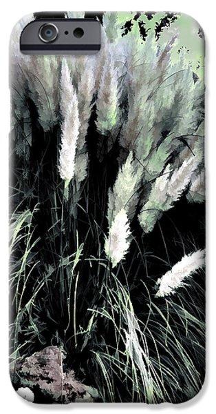Garden Scene Digital iPhone Cases - Willows iPhone Case by Tom Prendergast