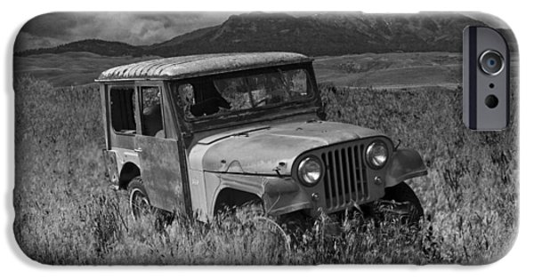 Vandalize Photographs iPhone Cases - Willy Jeep in Montana iPhone Case by Randall Nyhof