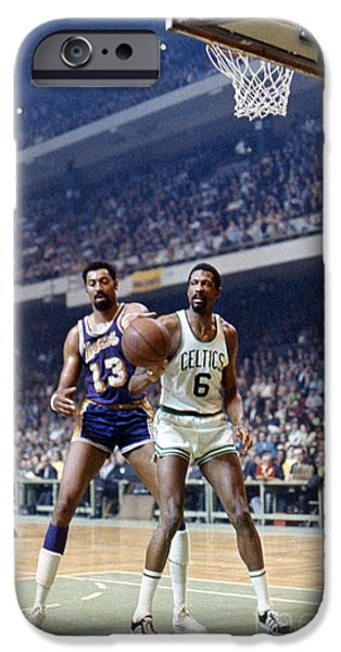Sneaker iPhone Cases - Wilt Chamberlain (1936-1999) iPhone Case by Granger