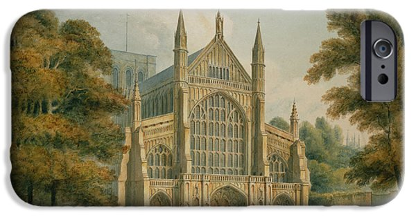 Village iPhone Cases - Winchester Cathedral iPhone Case by John Buckler