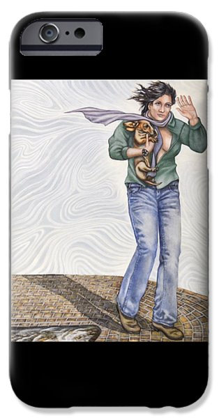 Windblown Paintings iPhone Cases - Wind iPhone Case by Charles Wheeler