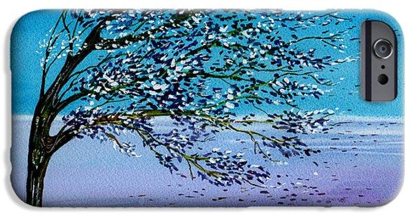 Windblown Paintings iPhone Cases - Windblown iPhone Case by Brenda Owen