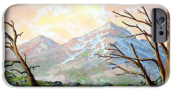 Windblown Paintings iPhone Cases - Windblown iPhone Case by Frank Wilson