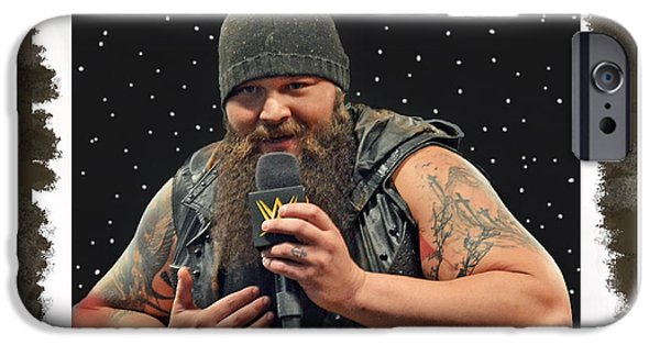 Husky iPhone Cases - Windham Lawrence Rotunda Pro Wrestling Character Bray Wyatt iPhone Case by Jim Fitzpatrick