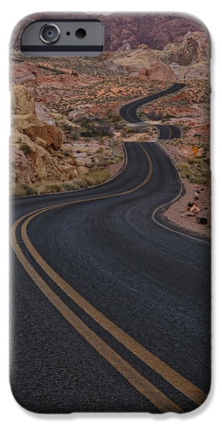 Brush Photographs iPhone Cases - Winding Road iPhone Case by Rick Berk