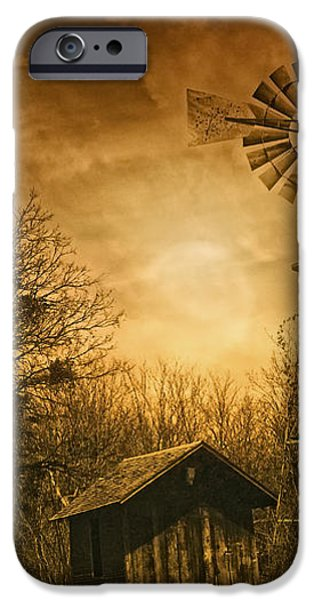 Windmill at Sunset iPhone Case by Iris Greenwell