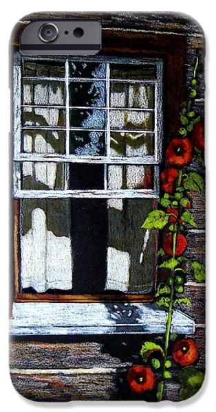 Best Sellers -  - Cabin Window iPhone Cases - Window at Upper Canada Village iPhone Case by Joyce Geleynse