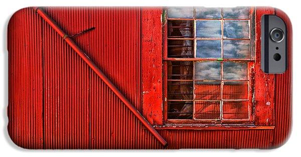 Franklin iPhone Cases - Window in Red iPhone Case by Clayton Brandenburg