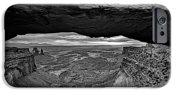 The Plateaus iPhone Cases - Window To The Canyon Below iPhone Case by Rick Berk