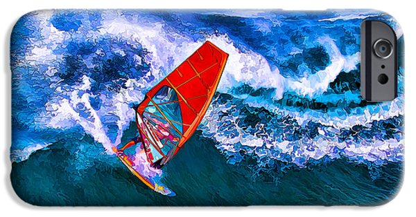 Windsurfer iPhone Cases - Windsurfer 1 iPhone Case by Bill Caldwell -        ABeautifulSky Photography