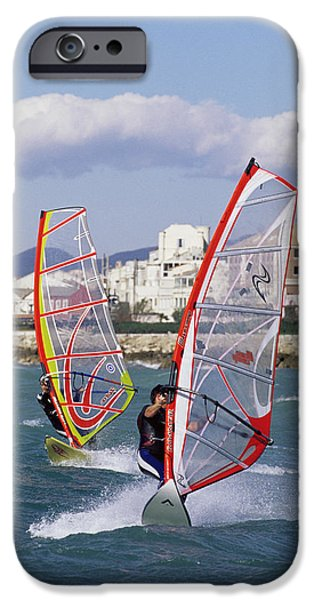 Windsurfer iPhone Cases - Windsurfing iPhone Case by Alexis Rosenfeld