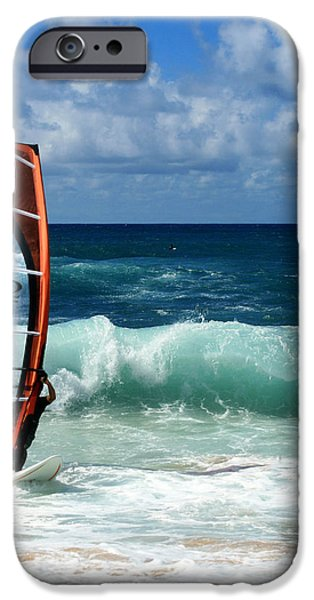 Windsurfing Hookipa iPhone Case by Sharon Mau