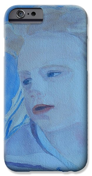 Young Paintings iPhone Cases - Windswept iPhone Case by Jenny Armitage