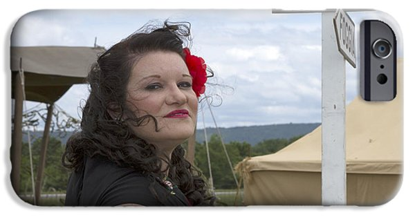 Model iPhone Cases - Windswept PinUp iPhone Case by Karen Foley