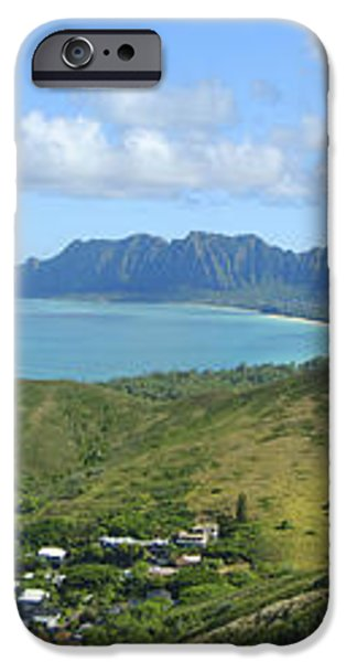 Windward Oahu Panorama III iPhone Case by David Cornwell/First Light Pictures, Inc - Printscapes