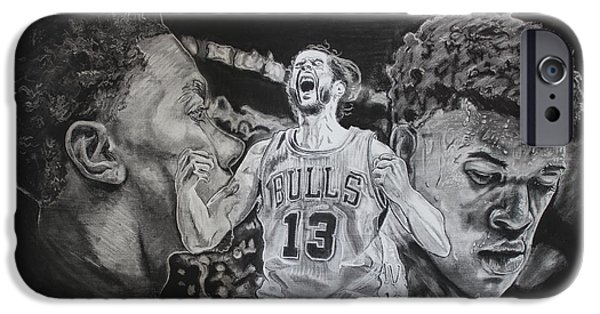 Derrick Rose iPhone Cases - Windy City Assassins iPhone Case by Brian Sanford