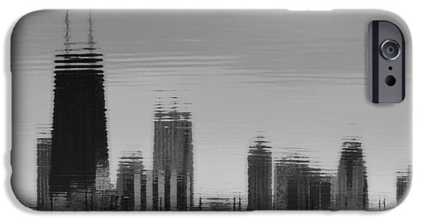 Willis Tower iPhone Cases - Windy City Reflections B n W iPhone Case by Richard Andrews