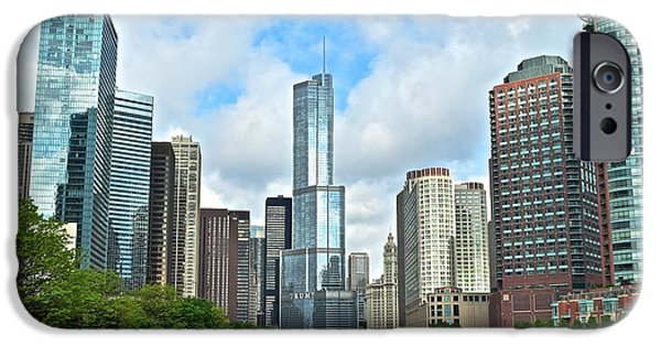 Chicago Cubs iPhone Cases - Windy City River View iPhone Case by Frozen in Time Fine Art Photography