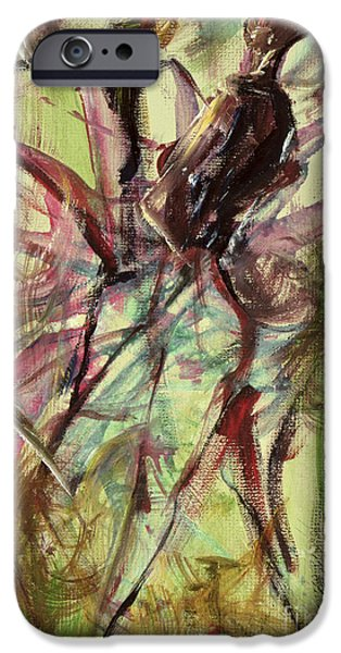 Dancer iPhone Cases - Windy Day iPhone Case by Ikahl Beckford
