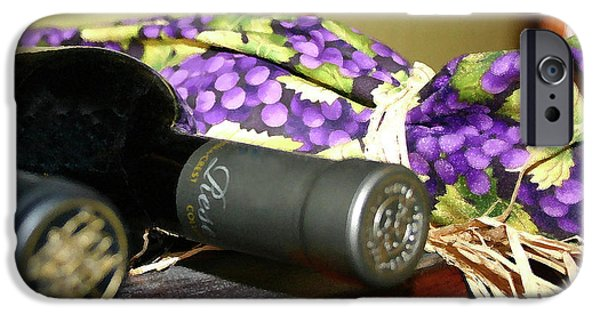 Wine Bottles iPhone Cases - Wine and Gift Bags iPhone Case by Wendy Raatz Photography