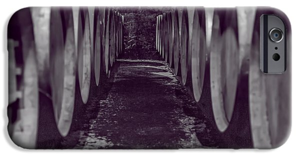 Vintage Wine Lovers Photographs iPhone Cases - Wine Barrel Alley iPhone Case by Nomad Art And  Design