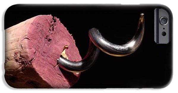 Strange iPhone Cases - Wine Cork And Cork Screw iPhone Case by Frank Tschakert