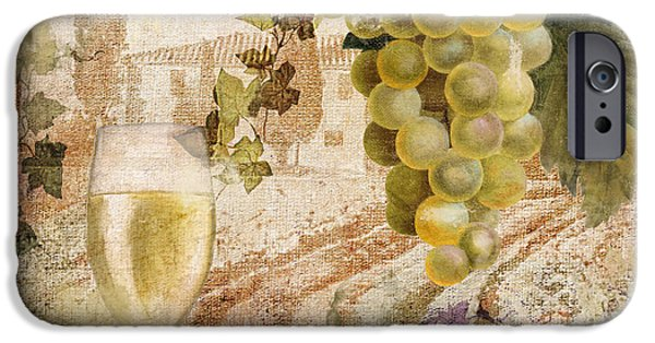 Glass Of Wine iPhone Cases - Wine Country Alsace iPhone Case by Mindy Sommers