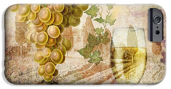 Glass Of Wine iPhone Cases - Wine Country Chablis iPhone Case by Mindy Sommers