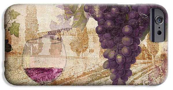 Glass Of Wine iPhone Cases - Wine Country Loire iPhone Case by Mindy Sommers