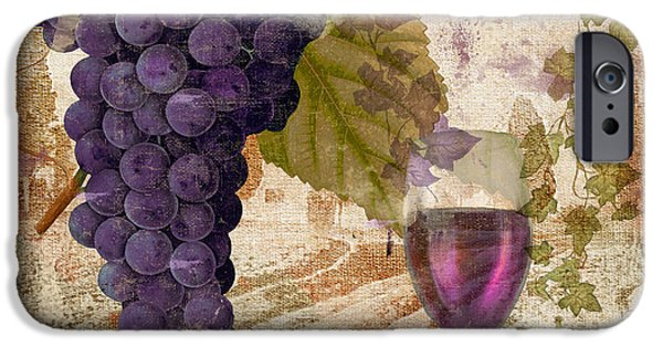 Glass Of Wine iPhone Cases - Wine Country Provence iPhone Case by Mindy Sommers