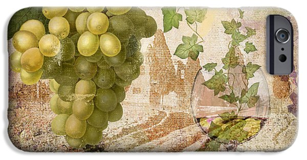 Glass Of Wine Paintings iPhone Cases - Wine Country Rhone iPhone Case by Mindy Sommers