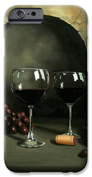 Wine For Two iPhone Case by PAUL WALSH
