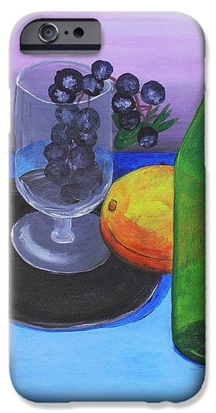 Wine glass and fruits iPhone Case by Jose Valeriano