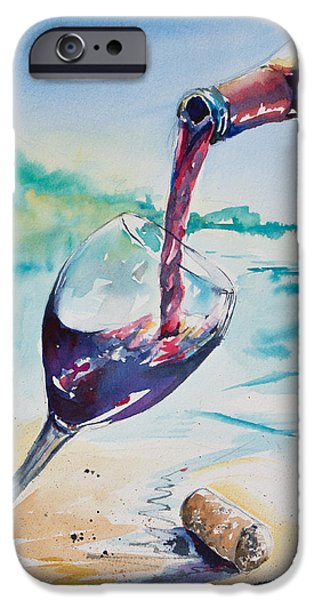 Poured Watercolour iPhone Cases - Wine on the Beach iPhone Case by Adam VanHouten