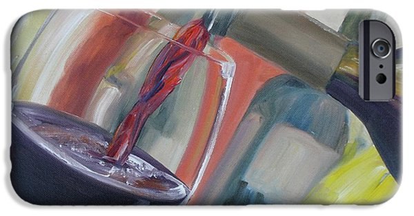 Wine Pour iPhone Cases - Wine Pour iPhone Case by Donna Tuten