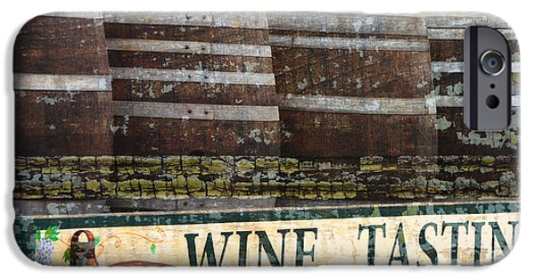 Surtex Licensing iPhone Cases - Wine Tasting Vintage Sign iPhone Case by Anahi DeCanio - ArtyZen Studios
